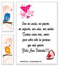 enviar lindos pensamientos de amor a mi pareja para San Valentìn,mensajes bonitos de amor para mi esposo en San Valentìn: http://www.consejosgratis.es/mensajes-para-el-dia-de-los-enamorados/