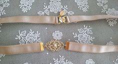Bridesmaids+Nude+Belt+-+Gold+Buckle+-+Vintage+Inspired+-+Gold+Belt+-+Elastic+Belt+-+Winter+Wedding