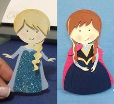 Free Studio file from Silhouette Brasil 3D DIY FROZEN » Shape 65: Anna e Elsa…