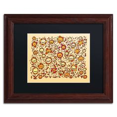 'Smiling Sunflowers' by Carla Martell Matted Framed Graphic Art