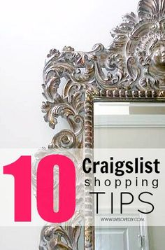 10 Craigslist Shopping Tips. How to find the best home decor items and save tons of money! This is SO good!