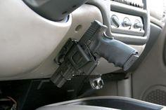 Car Mount Holster guns-guns-and-more-guns Rifles, Gun Storage, Fire Powers, Car Mount, Truck Accessories, Wrangler Accessories, Guns And Ammo, Concealed Carry, Self Defense