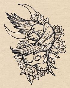 Paper Embroidery, Embroidery Patterns, Tattoo Patterns, Embroidery Stitches, Tattoo Sketches, Tattoo Drawings, Arte Hip Hop, Spooky Tattoos, Urban Threads