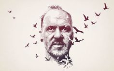 "Michael Keaton stars in ""Birdman,"" directed by Alejandro González Iñárritu. Read Anthony Lane's take on the new film: http://nyr.kr/1rqqK6J (Illustration by Peter Strain)"