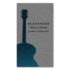 Striped Guitar Music Business Card, Blue Double-Sided Standard Business Cards (Pack Of Make your own business card with this great design. All you need is to add your info to this template. Click the image to try it out!