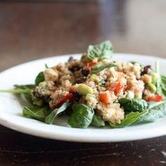 Black bean and quinoa salad with basil-lemon dressing