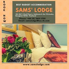 We're proud to present Sam's Lodge, a nice budget hotel in Bangkok, to all budget conscious travelers planning for a comfortable stay. Affordable Hotels, Best Budget, Home And Away, Bangkok, Budgeting, Thailand, Flooring, How To Plan, Nice