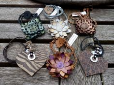a selection of this seasons leather jewellery,