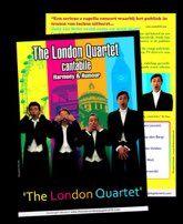 flyer The London Kwartet  (A5 300 gram) ontwerp & druk Grafisch Buro ROYKI Oostkamp