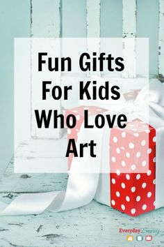 Fun Gifts for Kids Who Love Art If you need gifts for young artists, you will love the cool art supplies we have chosen.