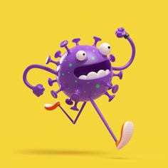Runner's World - Go With Your GutYou can find Runners world and more on our website.Runner's World - Go With Your Gut Character Design Animation, Game Character, Character Concept, Zbrush, Bacteria Cartoon, Character Illustration, Illustration Art, David Carson, Identity