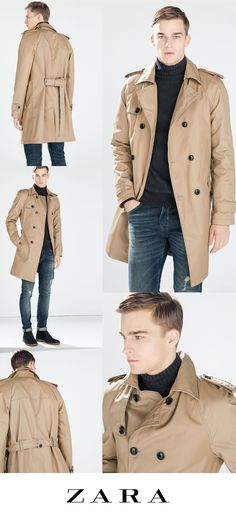 Just bought this. Mens Khaki Trench Coat from Zara. - $229