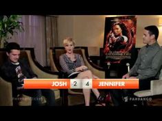 Jennifer lawrence Josh Hutcherson game - really funny :):):) pin so I can watch later!