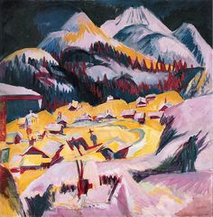 Ernst Ludwig Kirchner ~ Frauenkirch im Winter (1918-1919)