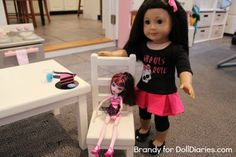 Doll Sized Monster High Themed Birthday Party Fun