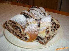Delicious cakes with custard Czech Recipes, Russian Recipes, Good Food, Yummy Food, Tasty, Polish Recipes, Strudel, Yummy Cakes, Food And Drink