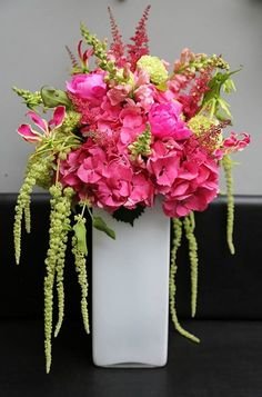 Flower Arrangement except with purple Mercedes!
