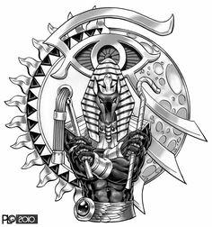 Left Arm Tattoos, Arm Tattoos For Guys, Small Tattoos, Sleeve Tattoos, Creepy Tattoos, Dope Tattoos, Egyptian Symbols, Egyptian Art, Black Men Tattoos