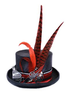 FUTURA HATS - Steampunk hat with gogglesAlice in wonderland hat Burning Festival Wear, Festival Outfits, Festival Fashion, Festival Hats, Steampunk Hat, Steampunk Clothing, Costume Hats, Cosplay Costumes, Alice In Wonderland Hat
