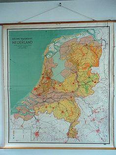oude schoolkaart nederland