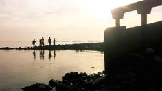 Playing in the morning, Surabaya, East Java