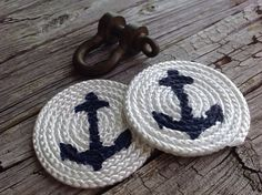 Set of 4 Rope Anchor Coasters.