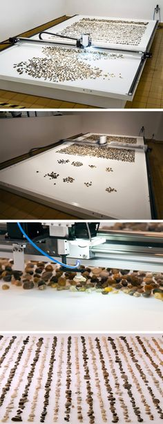 A Kinetic Artwork that Sorts Thousands of Random River Stones by Age