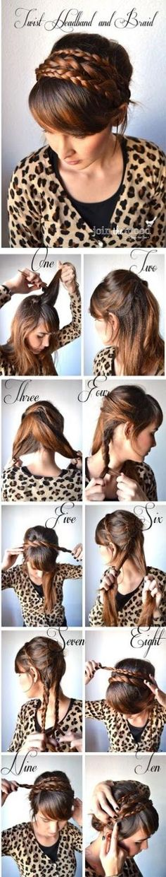 Make Wist Headband And Braid | hairstyles tutorial by HISTNERD14