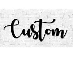Custom Script Metal Sign, Home Decor, Housewarming Gift, Wedding Decor, Outdoor Decor, Personalized Metal Art, Name Sign, Word Art