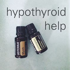 Hypothyroid Help  In a roller bottle combine: 2 parts lemongrass 1 part myrrh  1 part fractionated coconut oil  Apply to the thyroid area at least once daily!   More info: Lemongrass is known as a revitalizer. It helps with circulation, improves digestion, wakes the lymphatic system, and more!  Myrrh: uplifting and promotes awareness. Helps with skin conditions, menstrual issues, thyroid issues, and more!