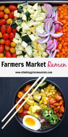 Farmers Market Ramen www.climbinggriermountain.com