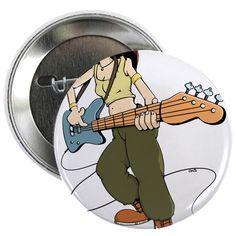 """Bass Girl 2.25"""" Button"""