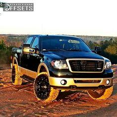 Wheel Offset 2008 Ford F 150 Aggressive 1 Outside Fender Leveling Kit Custom Rims