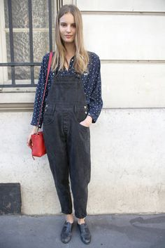 Dungarees - Street Style Paris (Add some Kickers with this and it ll be f64901b7a9a3