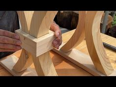 Watch How He Turns Waste Wood Into A Beautiful Table! // The Perfect Wood Recycling Project Ever - YouTube Diy Wooden Projects, Wooden Diy, Wood Furniture Legs, Furniture Design, 2x4 Table, Real Ghost Photos, Welding Art, Diy And Crafts, Recycling