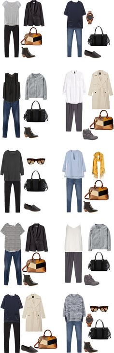 What to wear on a business trip Outfit Options 1-10 #travel #travelcapsule #workwardrobe #workcapsule