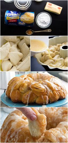 Spiced Eggnog Monkey Bread ~ Says: If you like eggnog, you're going to love this monkey bread spiced with nutmeg and topped with a creamy eggnog rum icing... Its like Merry Christmas for your mouth!