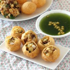 Pani Puri (Gol Gappa / Puchka/ Pakodi) - Indian Chhat Snack Special - Step by Step Recipe -Spicy potato and chana (chickpeas) stuffed crispy puri drenched in sour and spicy mint flavored water (pudina pani)