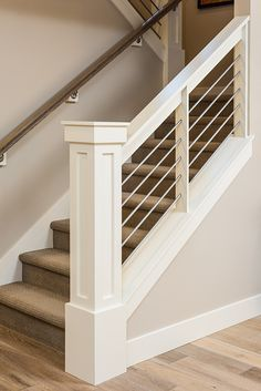 Second Choice. I like this newal post. And I love the metal underneath. This is another contender. Banister idea