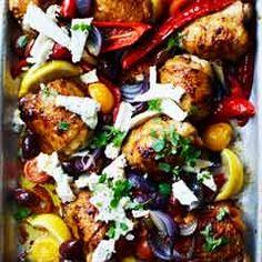 Greek chicken traybake - Sainsbury's Magazine