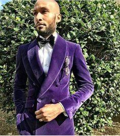 Purple Velvet Men Suit Handsome Shawl Lapel Double Breasted Jacket 2017 Modern Tuxedo For Party (Jacket+Pants+Bow Tie) Groom Tuxedo, Tuxedo Suit, Tuxedo Jacket, Tuxedo For Men, Blazer Jacket, Groom Suits, Tuxedo Dress, Groom Wear, Groomsmen