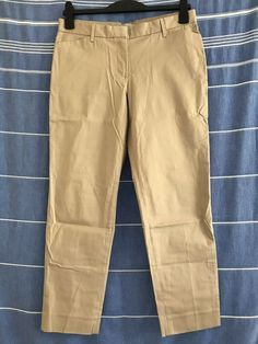 3401f6c07 GAP 'Slim Cropped' Beige Sandy Chino Trousers UK10 EU38 US6 Stretch Straight  #fashion