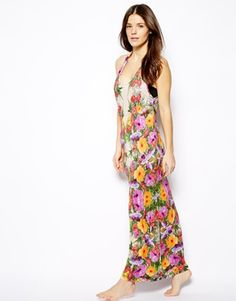 Superdry dip dye maxi dress