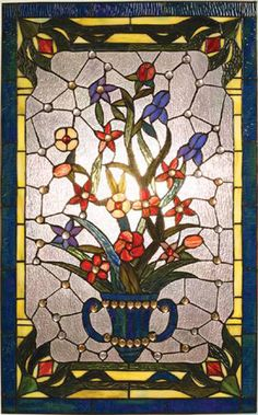Classic Bouquet Glass Panel from AAA Native Arts