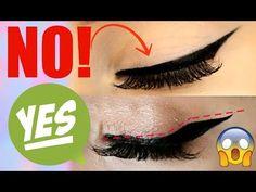 HOW TO- Winged Eyeliner for HOODED EYES! | Jade Madden - YouTube