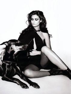 Bianca Balti - fierce fashion in black