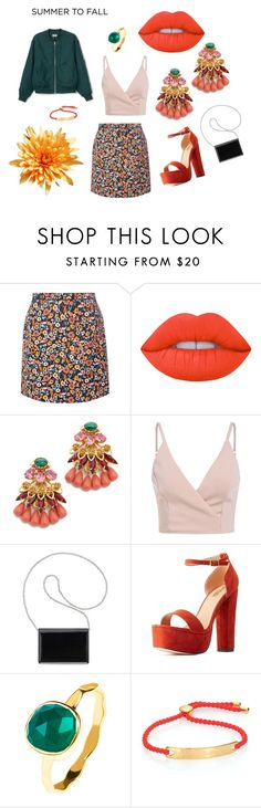 """""""Melon Jade"""" by leasha512 ❤ liked on Polyvore featuring Dorothy Perkins, Lime Crime, Elizabeth Cole, Nine West, Charlotte Russe, Latelita and Monica Vinader"""
