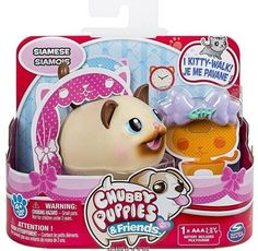 Chubby Puppies & Friends SIAMESE Kitty Cat 2016 New Release HTF #Spinmaster