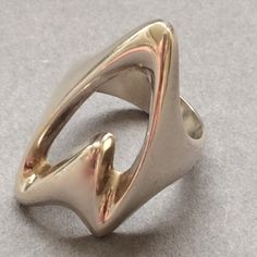 Gallery 925 - Georg Jensen Modernist Ring No. 89 by Henning Koppel. Handmade Sterling Silver.