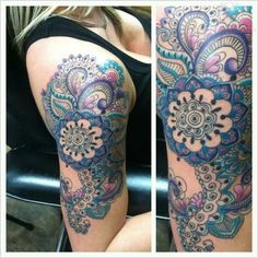 paisley film shoulder tattoo - Google Search